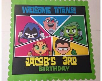 Teen Titans Door Sign Teen Titans Go Birthday | Teen Titans Go Party | Teen Titans Go  Party Door Sign| Teen Titans Go Decorations | Teen Ti