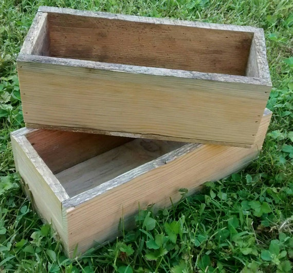 "Nested wood pallet boxes, 10""x4"" & 11x5"", planter box, pallet box, wall shelf, repurposed wood, wood storage box, decorative box, wood gift"