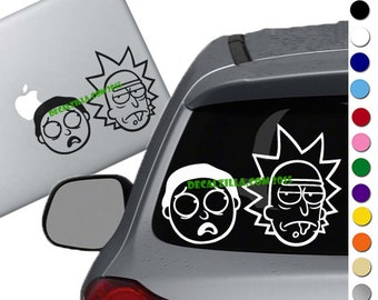 Cartoon Decal Sticker Inspired by Rick and Morty