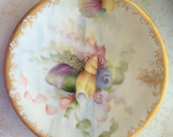 Hand-Painted Antique French Porcelain Dessert Service