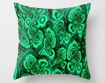 Luxe Malachite Pillow Cover