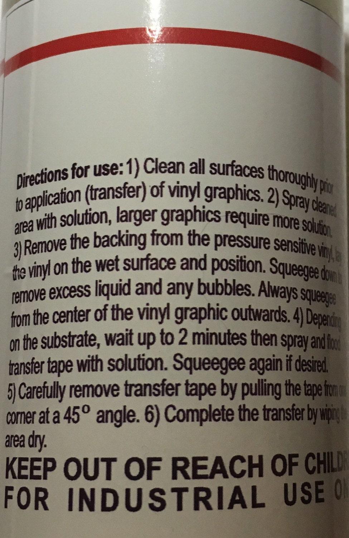Transfer Application Solution Spray For Adhesive Vinyl Decals - Custom vinyl decal application solution