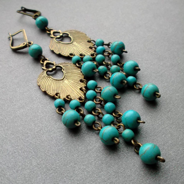 long earrings turquoise dangle earrings turquoise earrings. Black Bedroom Furniture Sets. Home Design Ideas