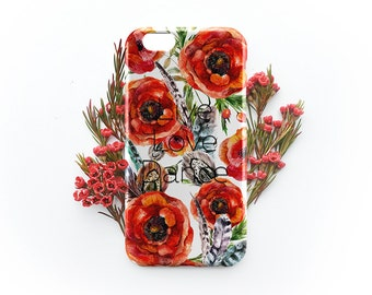 Flower iPhone 7 Case Quote iPhone 7 Plus Case Floral iPhone 6 6S Plus Case Quote iPhone SE Flower Case Galaxy S6 S7 Case iPhone 5C Flower