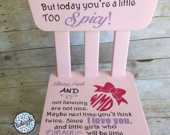 Girl's Time Out Chair, Time Out Chair, Girls Time Out Chair, Thinking Chair