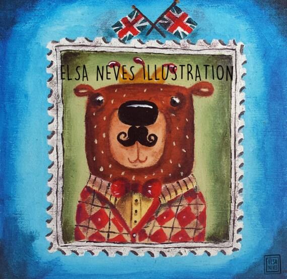 Royal Mail UK Stamp Bear