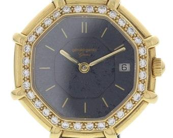 Ladies Diamond 18k Gold Gerald Genta Octagonal G2851.7