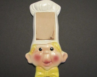 Vintage Kitchen Chef Wall Mount Note Pad