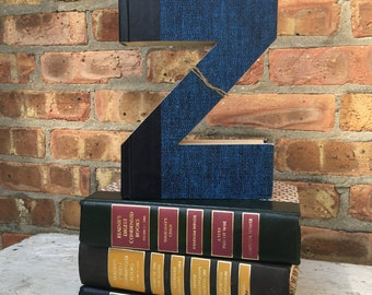 Letter Z...Custom Made Just For YOU!!!!  Letters created from actual Hardcover Books!!  Wonderful gifts for that person that has everything!