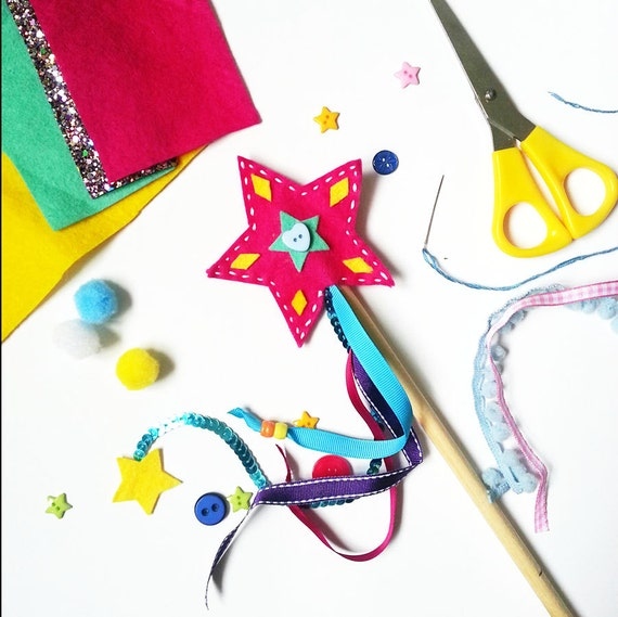 Magic wand making kit craft kit felt kit craft for kids for Princess wand craft kit