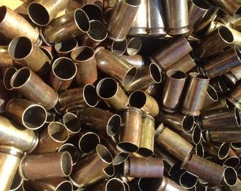 50 x (oxidized) Once Fired Bullet Brass - 9mm Brass Casings