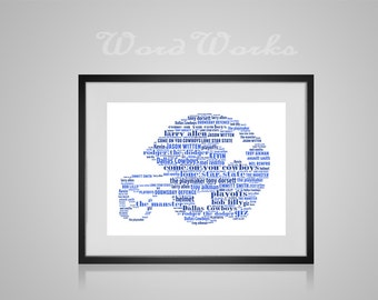 "Personalised American Football Helmet Word Art  **Buy 3 prints get the 4th FREE**  Use coupon code "" MYFREEONE """