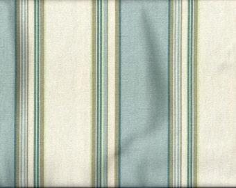Blue Green Wide Stripe Curtain Valances