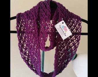 crochet infinity scarf, bufanda infinita