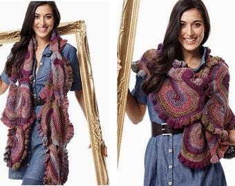 Femmes foulard coloré crochet / custom