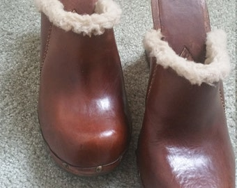 Like New Mia Wooden Clogs, Size 10