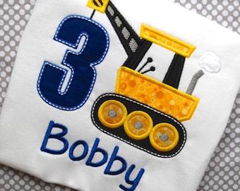 Boys Construction Birthday Shirt, Construction Crane Shirt, Bob Construction Shirt