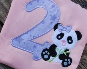 Panda Shirt, Panda Onesie, Girls Panda Shirt, Panda Birthday shirt, Boys Panda Birthday Shirt, Panda Onesie