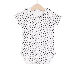 Dalmatian Organic Cotton Baby Short Sleeve Onesie