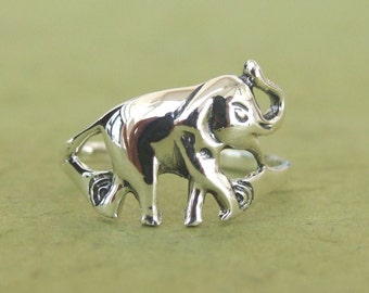 Sterling Silver Ring, Silver Elephant Ring, Silver Animal Ring, Silver Band Ring, Silver Retro Ring, Oxsidized Silver Ring