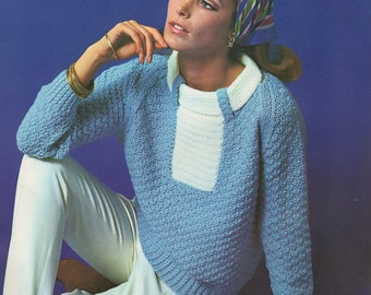Women's Retro Unique Knitted Jumper from the 60s