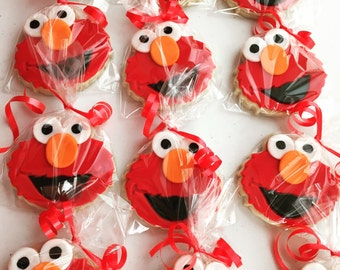 Elmo inspired Sugar Cookies