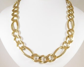 Enormous! 10k Yellow Gold Figaro Chain