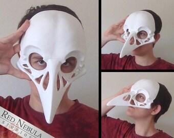 Raven Skull Mask Blank, Crow Skull Masque, Corvid Skull Face Mask, Realistic Skull, Creepy Bird Skull Mask, Bird Skeleton, Halloween Costume