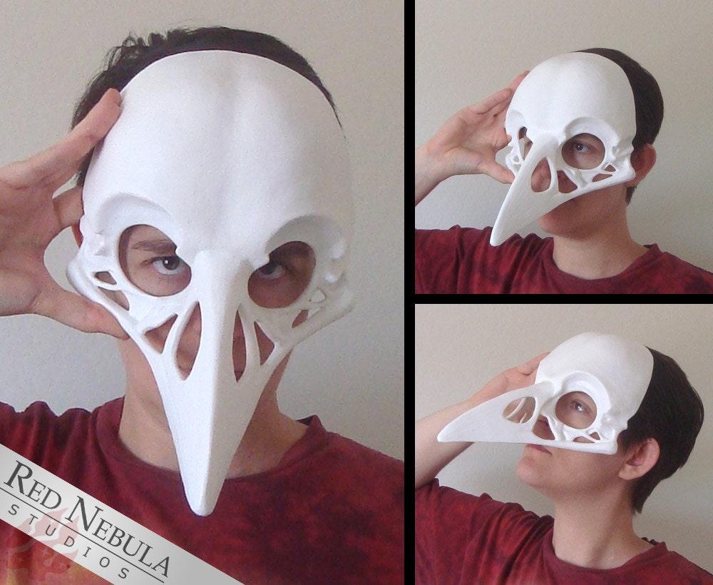 Raven Skull Mask Blank Crow Skull Masque Corvid Skull Face