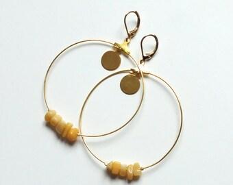 Earrings Jade gemstones
