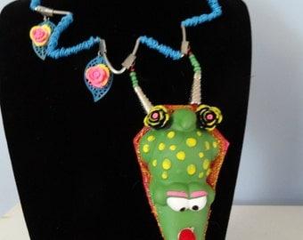 Necklace croco