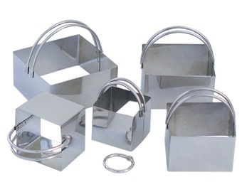 SQUARE COOKIE Cutter 5 Piece Set SS