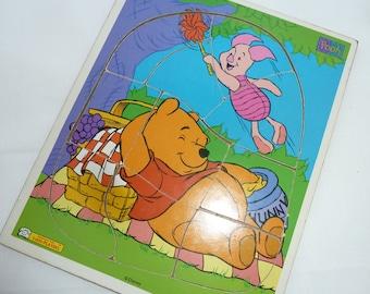 Vintage winnie The Pooh  preschool puzzle