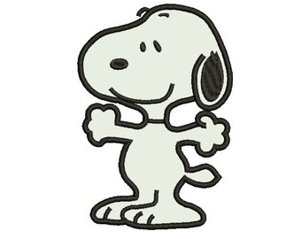 Snoopy / Peanuts Applique 5x7 - Embroidery Machine Design