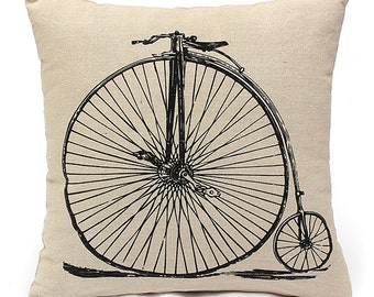 Vintage Bike Cushion Cover, pillow cover