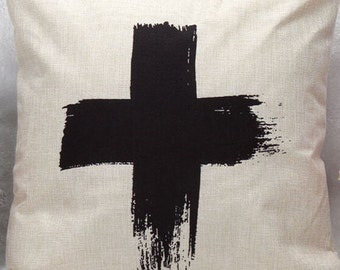 Big cross cushion cover , pillow cover