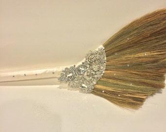 Wedding brooch jump broom