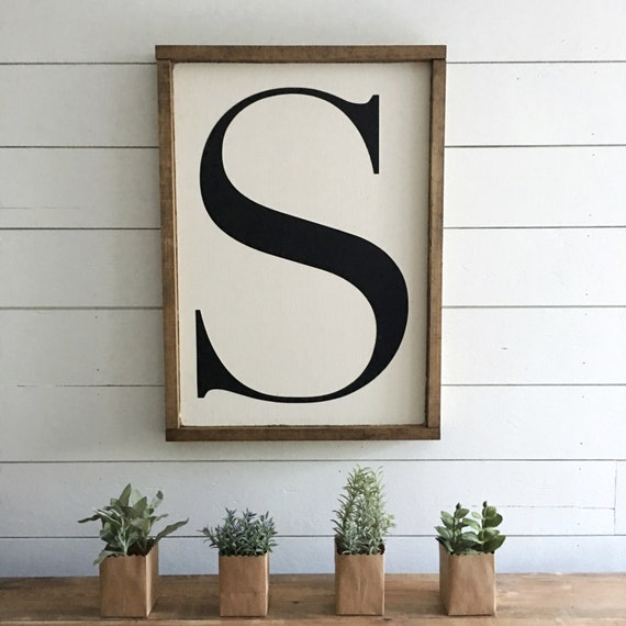 Initial sign, Letter or Number Sign, Wooden Sign, handmade sign, home decor, farmhouse decor, custom sign, gift, personalized
