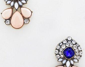 Peachy Statement Stud Earrings