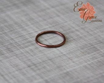 Copper Stacking Rings, Textured Bands, Sizes 4, 5, 6, 7, 8, 9, 10, 11, 12 and half sizes