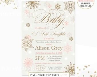 Winter Baby Shower Invitation Baby Itu0027s Cold Outside Baby Shower Invitation  Snowflake Baby Shower Invitation Classic