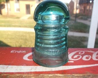 Brookfield Vintage Green Glass No 8 Insulator