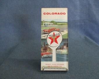 Colorado Texaco Road Map 1961