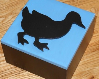 Duck Silhouette/Decorative/ Trinket/Gift/Keepsake/Storage Box