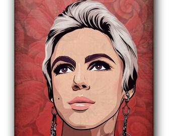Edie Sedgwick Canvas Art Print A1 A2 A3 A4