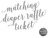 Matching Diaper Raffle Ticket, Baby Shower Invitations, Printable Baby Shower Invite, Baby Shower, Gender Reveal Party, Printable Invites