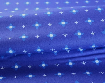 Meadow Flower in Blue - Midnight Meadow Colorway - Lovely Hunt by Lizzy House for Andover Fabrics