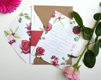 Raspberry Rose - Wedding Stationery Set