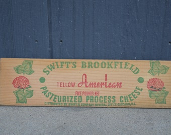 Vintage Swift's Cheese box panels ~ Chicago, Ill.