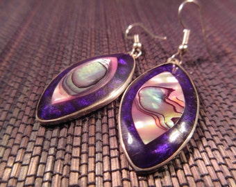 Taxco Sterling Silver Abalone Earrings
